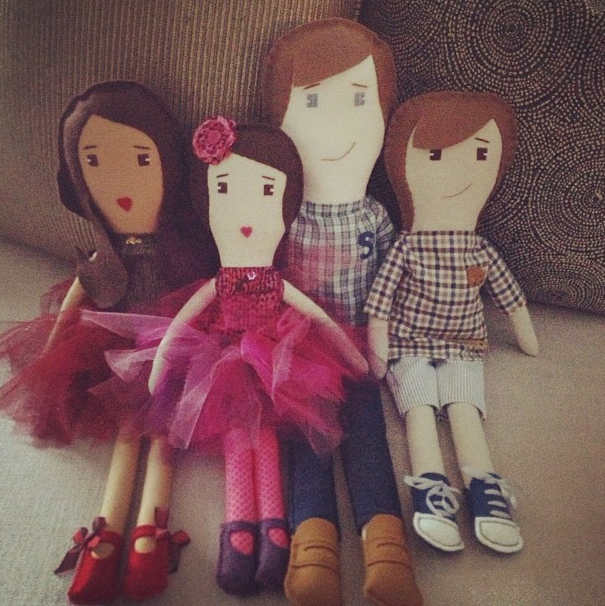 Kourtney's family in doll form.